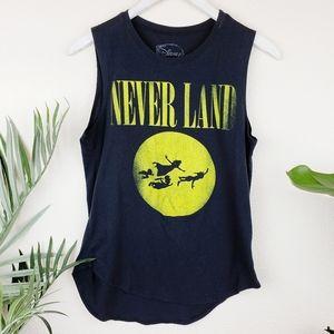 Disney | Never Land Graphic Tee Sleeveless Tank L